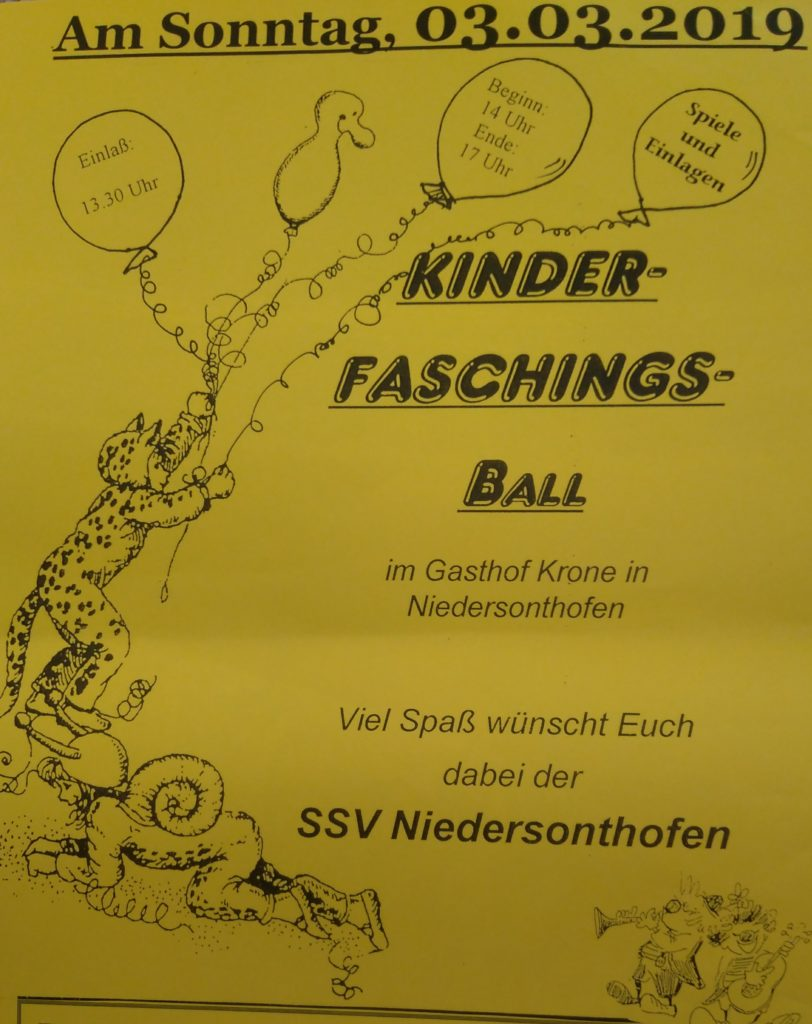 Kinder-Faschings-Ball 2019